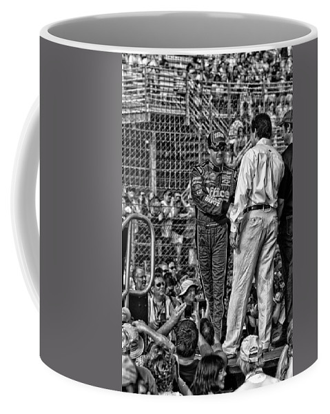Tony Stewart Coffee Mug featuring the photograph Tony Stewart Introduction by Kevin Cable
