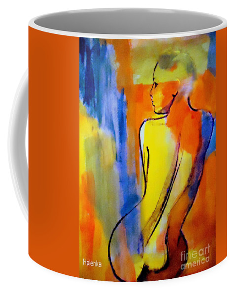 Nude Figures Coffee Mug featuring the painting Tranquility by Helena Wierzbicki