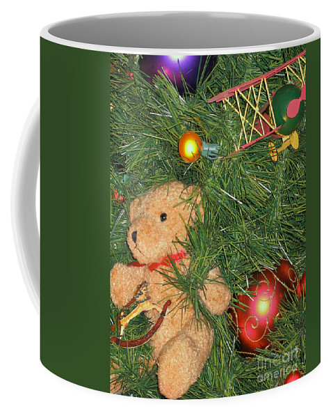 Christmas Coffee Mug featuring the photograph Tree Of Toys by Ann Horn