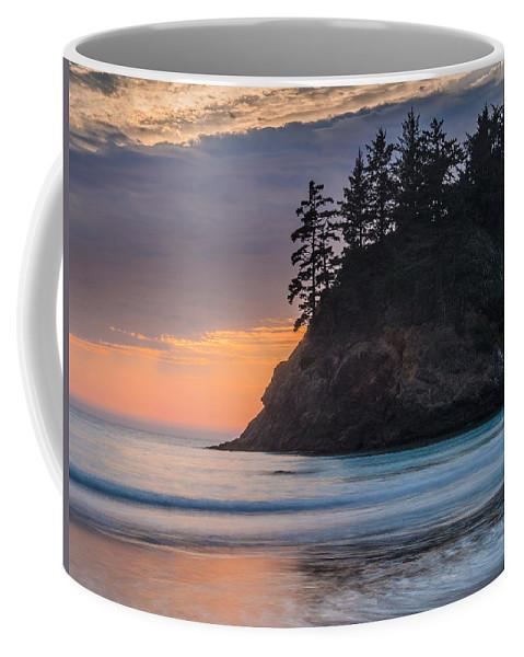 Trinidad State Beach Coffee Mug featuring the photograph Trinidad Dusk by Greg Nyquist