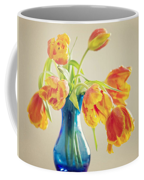 Tulpe Coffee Mug featuring the pyrography Tulip by Steffen Gierok