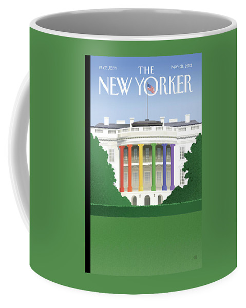 President Coffee Mug featuring the painting Spectrum Of Light by Bob Staake