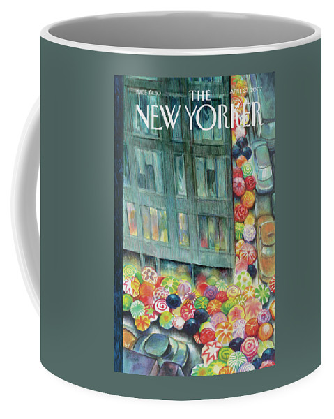 City Coffee Mug featuring the painting New Yorker April 23rd, 2007 by Carter Goodrich