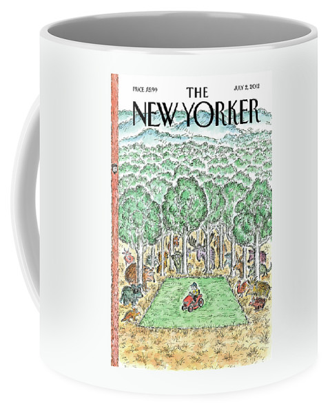 Trees Coffee Mug featuring the painting Summer Chore by Edward Koren