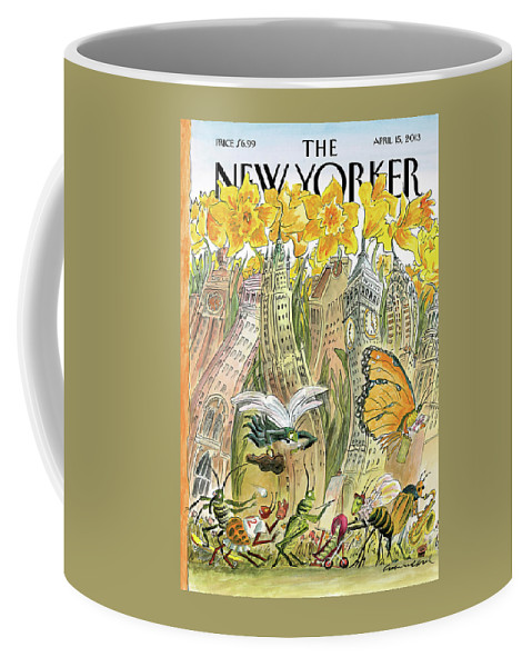Blossom Coffee Mug featuring the painting Blossom Time by Edward Sorel