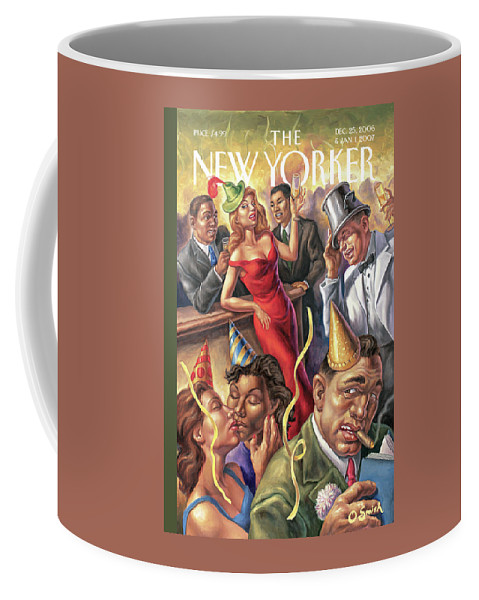 New Year Coffee Mug featuring the painting New Yorker December 25th, 2006 by Owen Smith