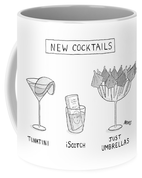 New Cocktails (different New Cocktails Coffee Mug featuring the drawing New Cocktails by Sam Means