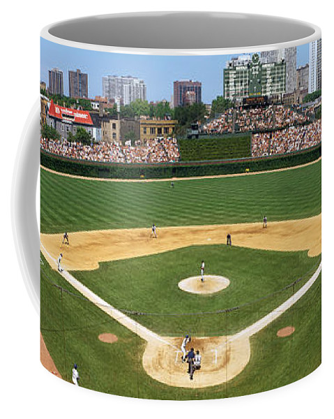 Photography Coffee Mug featuring the photograph Usa, Illinois, Chicago, Cubs, Baseball by Panoramic Images