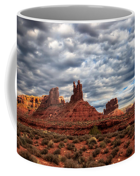 Clouds Coffee Mug featuring the photograph Valley Of The Gods II by Robert Bales