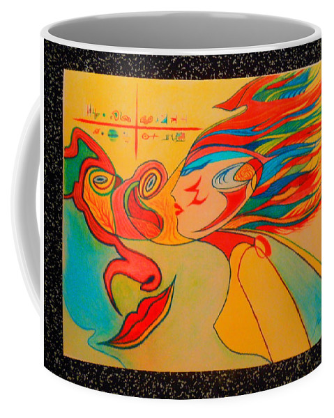 Space Coffee Mug featuring the pastel Vega by James Welch