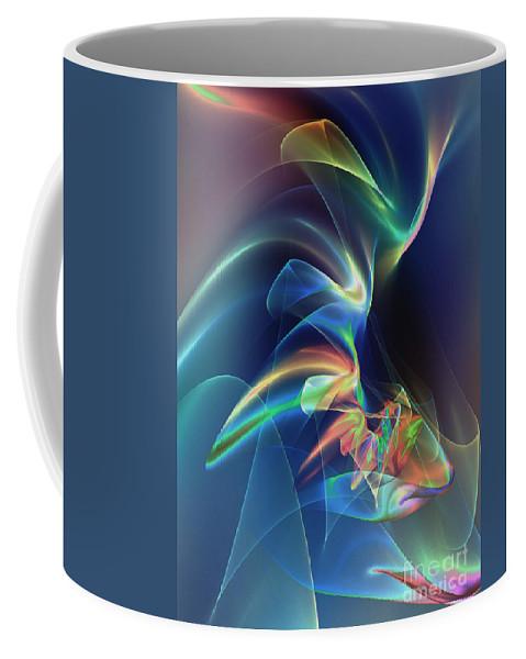 Veil Coffee Mug featuring the digital art Veildance by Klara Acel