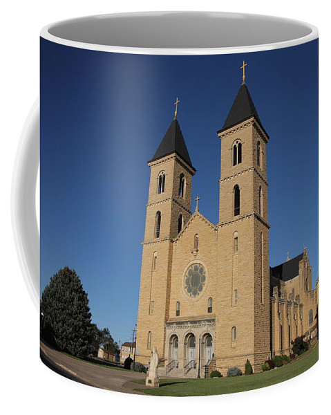 America Coffee Mug featuring the photograph Victoria Kansas - Cathedral Of The Plains by Frank Romeo