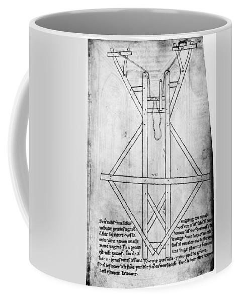 13th Century Coffee Mug featuring the drawing Villard De Honnecourt (c1225-c1250) by Granger