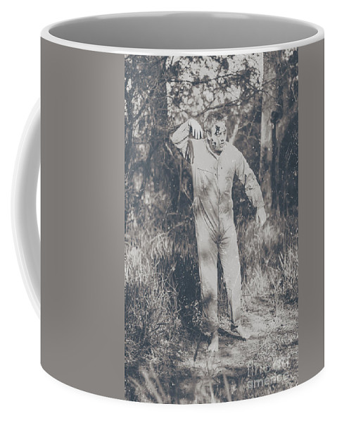 Vintage Coffee Mug featuring the photograph Vintage Black And White Horror Zombie by Jorgo Photography - Wall Art Gallery