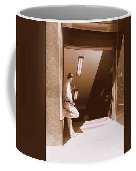 New York Coffee Mug featuring the photograph Waiting by Miriam Danar