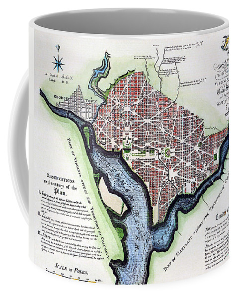1792 Coffee Mug featuring the photograph Washington, Dc, Plan, 1792 by Granger