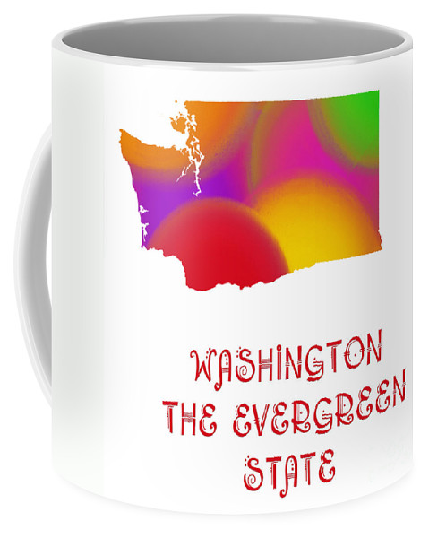 Andee Design Coffee Mug featuring the digital art Washington State Map Collection 2 by Andee Design