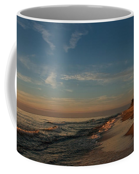 Ostsee Coffee Mug featuring the pyrography Weststrand by Steffen Gierok