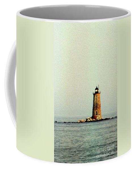Lighthouses Coffee Mug featuring the photograph Whaleback Lighthouse by Skip Willits