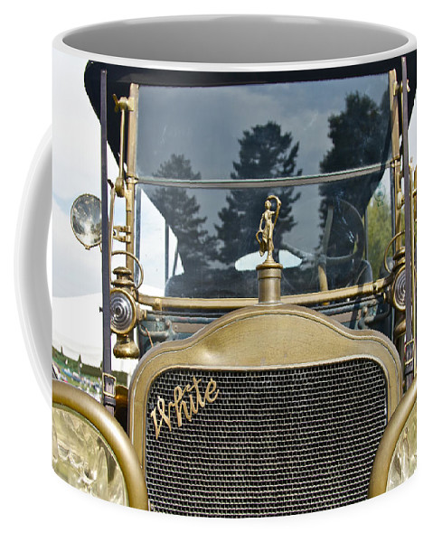 Antique Coffee Mug featuring the photograph White Motors by Jack R Perry