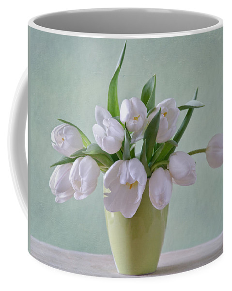 Tulpen Coffee Mug featuring the photograph White Tulips by Steffen Gierok