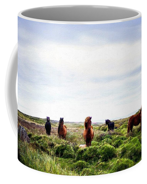 Wild Coffee Mug featuring the painting Wild And Free by Florian Rodarte