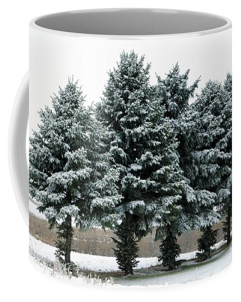Pine Coffee Mug featuring the photograph Winter Wonderland by Lori Tordsen