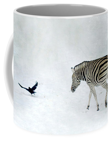 Zebra Coffee Mug featuring the photograph Zebra by Heike Hultsch