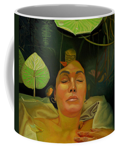 Figurative Coffee Mug featuring the painting 10 30 A.m. by Thu Nguyen