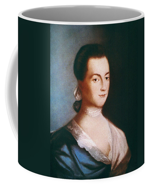 1766 Coffee Mug featuring the painting Abigail Adams (1744-1818) by Granger
