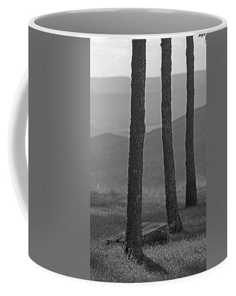 Alpine Coffee Mug featuring the photograph Blue Ridge Mountains - Virginia Bw 8 by Frank Romeo
