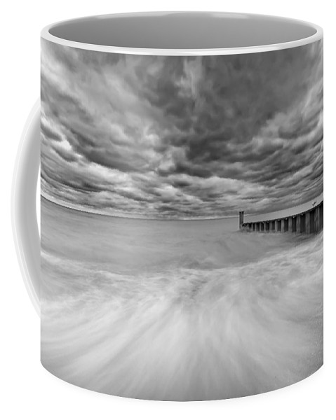 Lake Michigan Coffee Mug featuring the photograph Breakwater by Peter Lakomy
