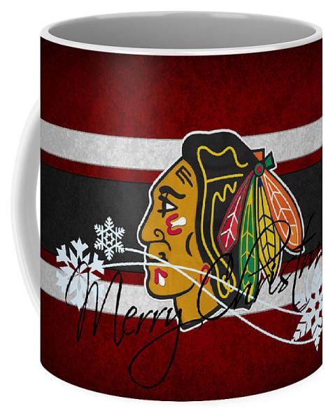 Blackhawks Coffee Mug featuring the photograph Chicago Blackhawks by Joe Hamilton