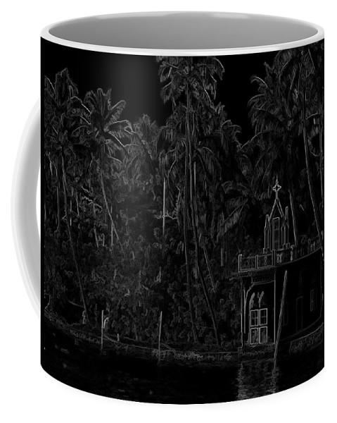 Building Coffee Mug featuring the digital art Church Located Next To A Canal by Ashish Agarwal