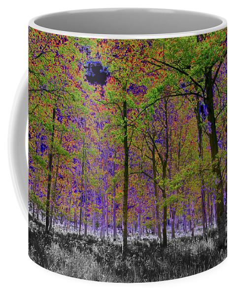 Tree Coffee Mug featuring the digital art Forest Art by David Pyatt