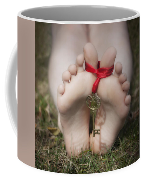 Feet Coffee Mug featuring the photograph key by Joana Kruse