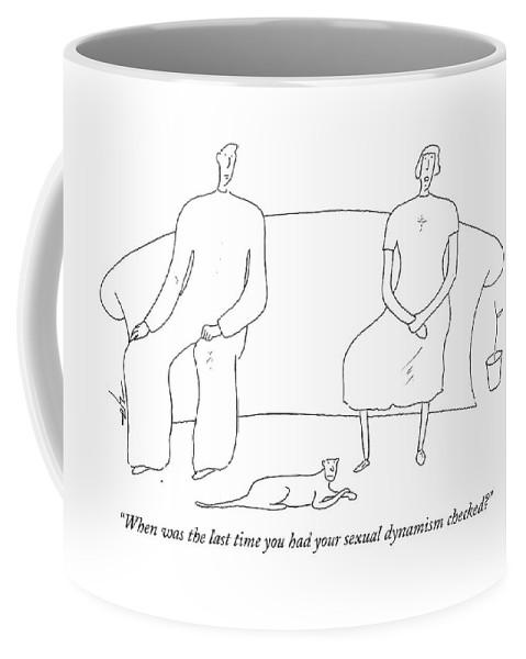 Husband Coffee Mug featuring the drawing When Was The Last Time You Had Your Sexual by Erik Hilgerdt