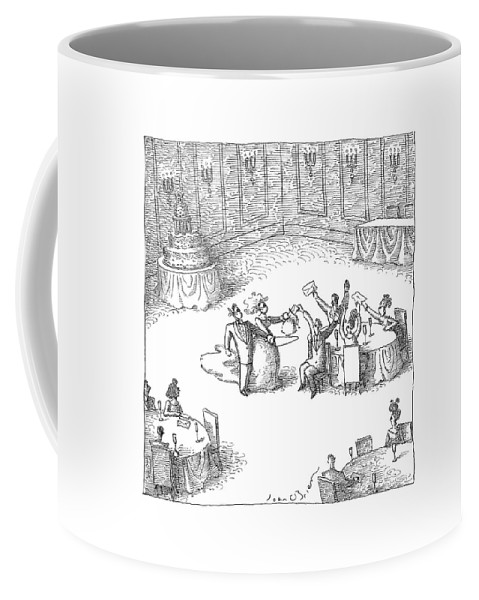 Wedding Coffee Mug featuring the drawing New Yorker September 18th, 2006 by John O'Brien