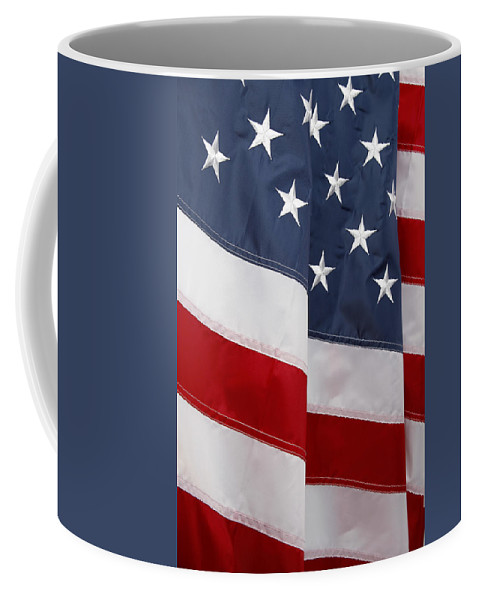 American Flag Coffee Mug featuring the photograph American Flag by Les Cunliffe