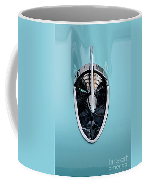Chevy Coffee Mug featuring the photograph 57 Chevy Detail by Dean Ferreira