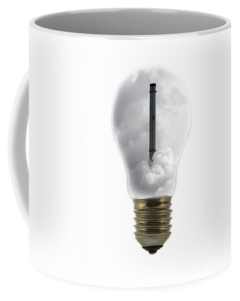 Incandescent Lamp Coffee Mug featuring the photograph 100111p146 by Arterra Picture Library