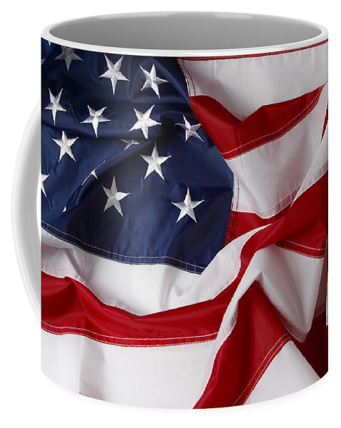 Flag Coffee Mug featuring the photograph American Flag 34 by Les Cunliffe