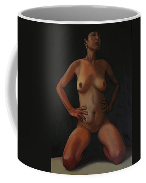Sexual Coffee Mug featuring the painting 11 Am by Thu Nguyen