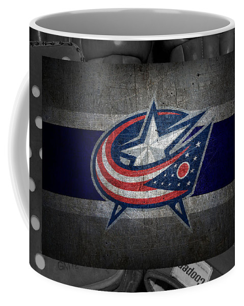 Blue Jackets Coffee Mug featuring the photograph Columbus Blue Jackets by Joe Hamilton