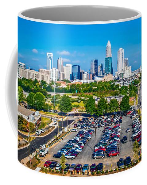 District Coffee Mug featuring the photograph Skyline Of Uptown Charlotte North Carolina by Alex Grichenko