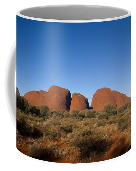 The Olgas Coffee Mug featuring the digital art The Olgas by Carol Ailles