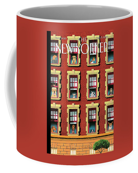 Hot Dogs Coffee Mug featuring the painting Hot Dogs by Mark Ulriksen