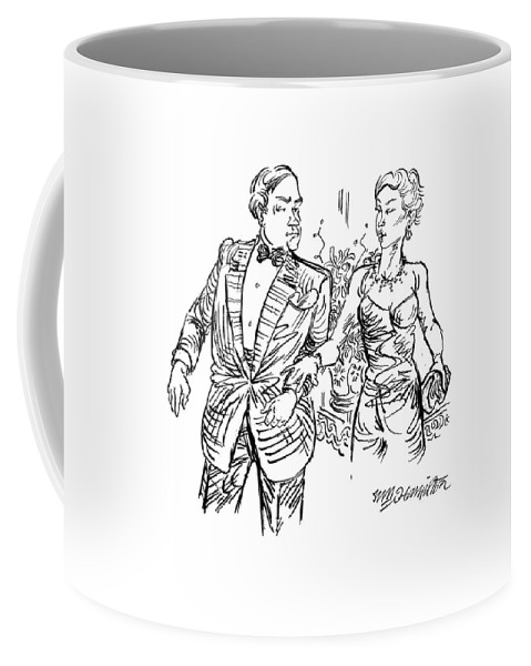 Wall Street Coffee Mug featuring the drawing Try To Remember Not To Mention His Obscene Bonus by William Hamilton