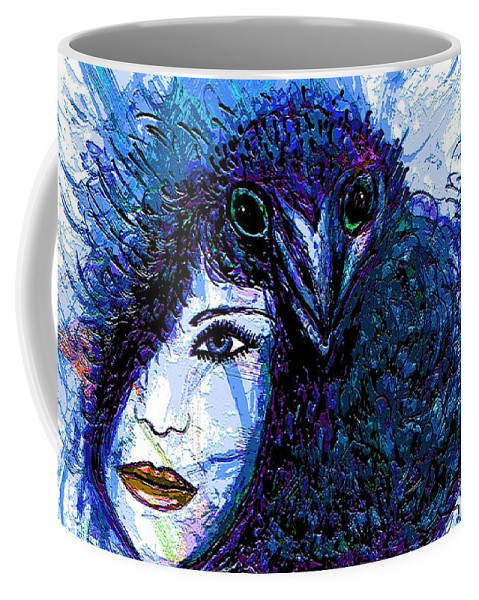 Vintage Hair Comb Coffee Mug featuring the mixed media Vintage Hair Comb by Natalie Holland