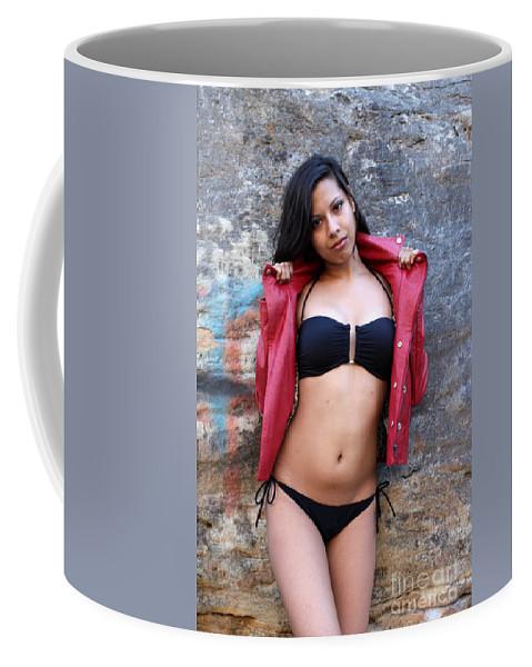 Woman Coffee Mug featuring the photograph Young Hispanic Woman by Henrik Lehnerer